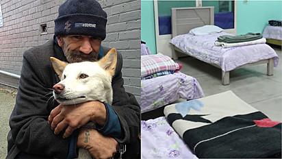 O centro de acolhimento foi preparado com muito carinho para receber os moradores de rua e seus pets.
