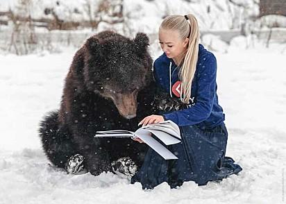 O ursinho é muito inteligente e esperto.