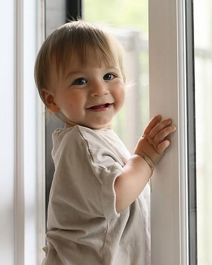 O pequeno Mayson, de 11 meses.