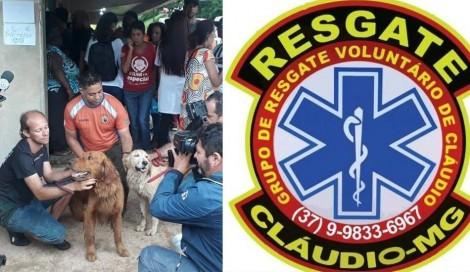 Grupo de Resgate de Claudio-MG, que atuou em Brumadinho, presta homenagem aos socorristas