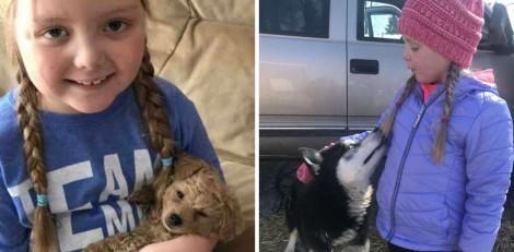 Menina com tumor inoperável recebe cartas de amor e fotos de cãezinhos do mundo todo