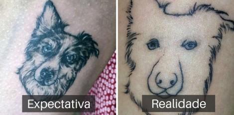 Turista faz tatuagem para provar amor por sua cachorra mas o resultado dá totalmente errado