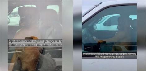 Viralizou: Cão boxer impaciente faz 'buzinaço' para chamar atenção do dono: 'Estava cansado de me esperar'
