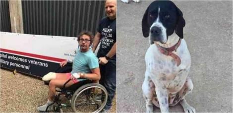 Homem que teve uma perna amputada adota cachorro que era rejeitado em abrigo por ter três patas