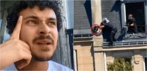 Cearense narra de forma hilária resgate de gato que estava preso em parapeito de prédio vizinho na França