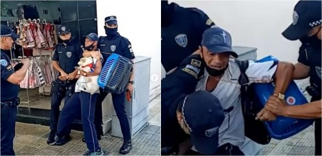 Caso de ex-morador de rua imobilizado com sua cadelinha no colo por guardas municipais gera revolta nos internautas
