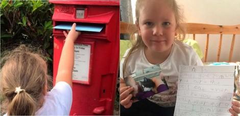 Carteiro de bom coração responde carta de garotinha que mandou uma correspondência para seu gato no 'céu'