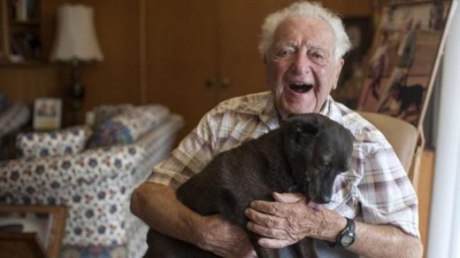 Milt e sua cachorrinha Lancy